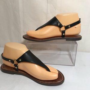 San Edelman Black Leather Sandals Size 7M or 37